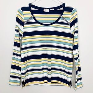 Anthropologie | Joliette Striped Tee Long Sleeve S